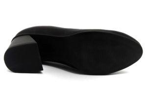 camore 9p3006 nero scarpe vera pelle slipon tacco medio mocassini invernali da donna collezione autunno inverno