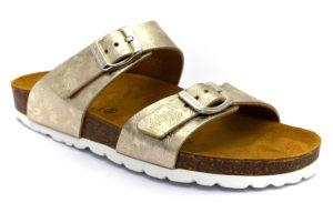 grunland sara cb17171 40 platino ciabatte pantofole sintetico fibbia plantare in sughero ciabatte, pantofole estive da donna collezione primavera estate
