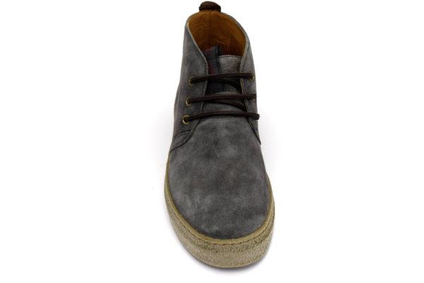 igieco 4128644 antracite grigio scarpe vera pelle lacci polacchine invernali da uomo collezione autunno inverno
