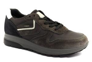 igieco 4134822 antracite grigio scarpe vera pelle lacci sneakers invernali da uomo collezione autunno inverno