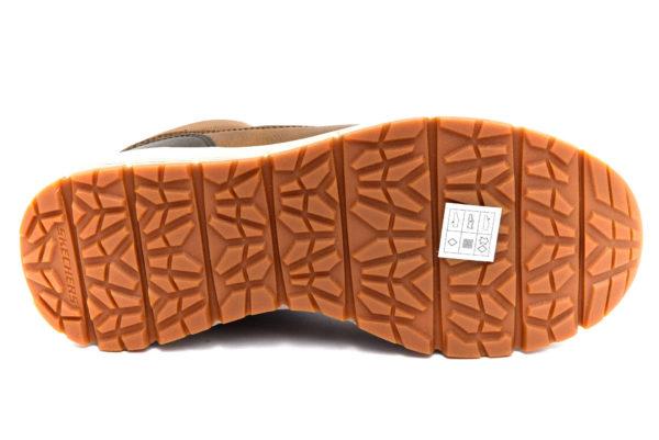 skechers 66180 cdb merix brown marrone polacchi vera pelle lacci sneakers invernali da uomo collezione autunno inverno