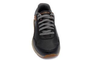 skechers 66274 bkbr crafton black brown nero marrone scarpe vera pelle lacci sneakers invernali da uomo collezione autunno inverno