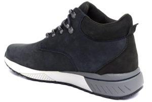 skechers 66394 nvy morse blu polacchi vera pelle lacci sneakers invernali da uomo collezione autunno inverno
