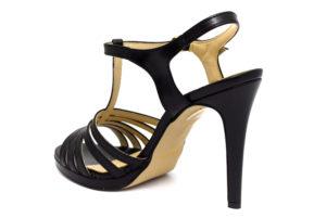 divine follie 7482 nero scarpe ecopelle fibbia tacco alto sandali estive da donna collezione primavera estate