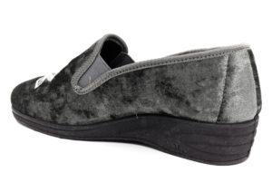 emanulela 521 grigio ciabatte pantofole panno da infilare zeppa ciabatte pantofole invernali da donna collezione autunno inverno