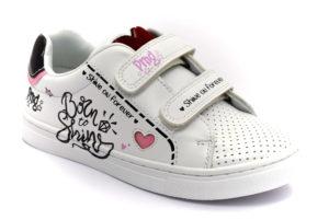 primigi 5457000 bianco scarpe ecopelle strappi sneakers estive da bambina collezione primavera estate