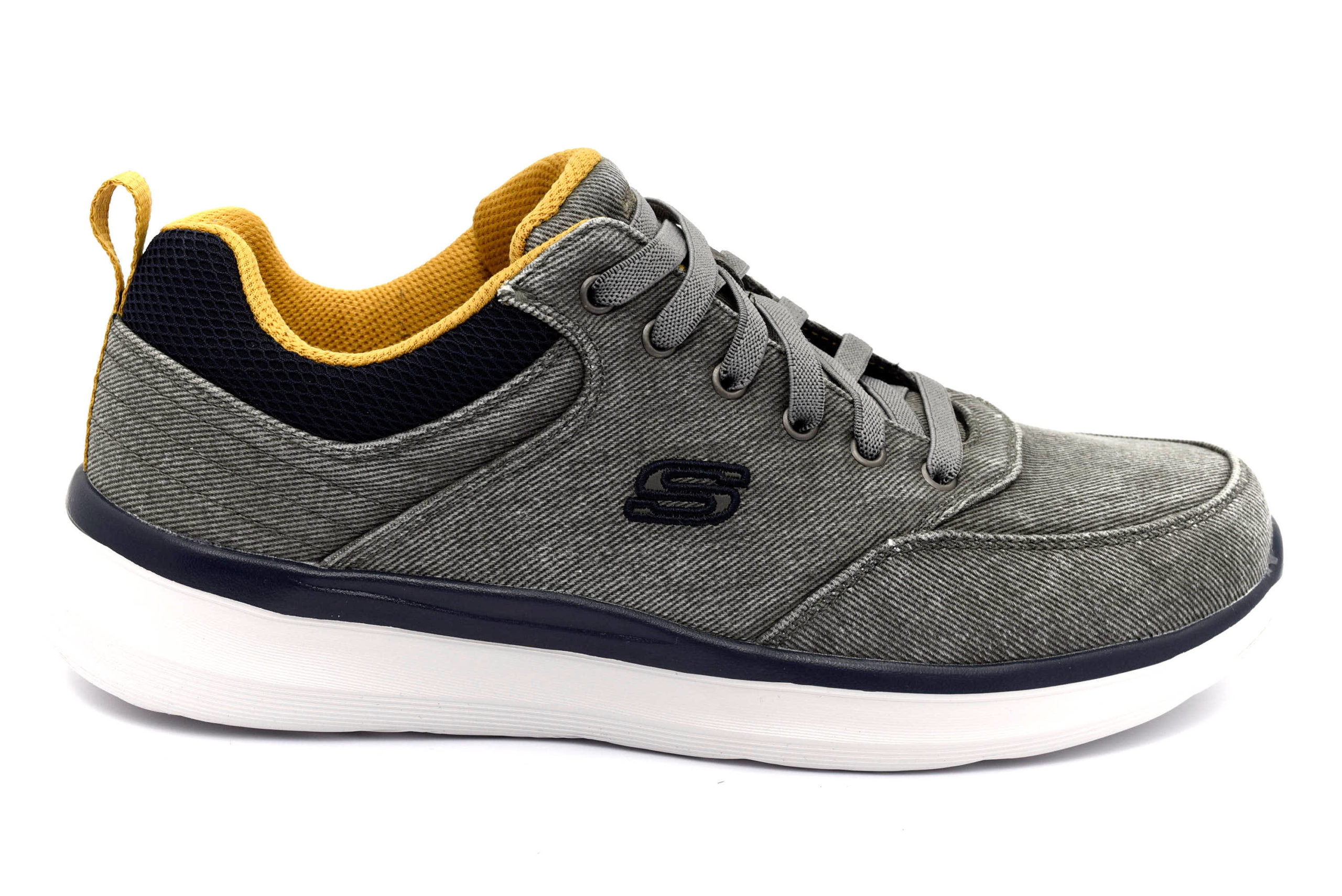 Skechers Sneaker uomo grigia in pelle e tessuto Sneakers
