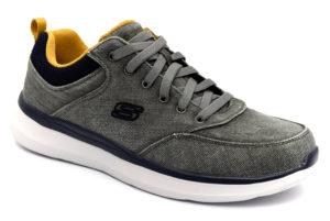 skechers 210024 char kemper grigio scarpe mesh tessutolacci memory foam air cooled sneakers estive da uomo collezione primavera estate