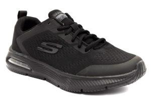 skechers 52559 bbk nero scarpe sintetico lacci memory foam air cooled sneakers invernali da uomo collezione autunno inverno