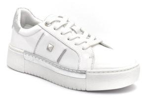 cafenoir gdd138 1791 dd138 bianco argento scarpe vera pelle lacci platform sneakers estive da donna collezione primavera estate