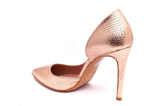 divine follie 771 laminato cipria scarpe ecopelle da infilare tacco a stiletto décolleté estive da donna collezione primavera estate
