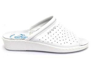 fly flot 26034 bc bianco ciabatte pantofole vera pelle da infilare zeppa ciabatte pantofole estive da donna collezione primavera estate