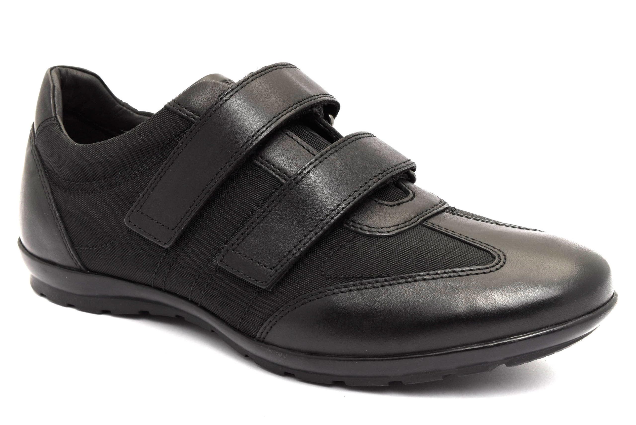 Dettagli su Dettagli su GEOX U74A5D 01143 C9999 SYMBOL Scarpe Sneaker Uomo Pelle Casual Estive Strappi Casual Estive Strappi