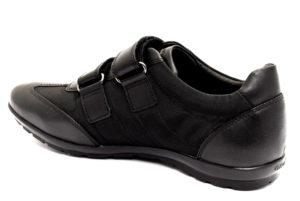 geox u74a5d 01143 c9999 symbol nero scarpe vera pelle strappi sneakers estive da donna collezione primavera estate