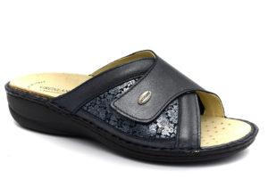 grunland dara ce0674 68 blu ciabatte pantofole vera pelle fibbia zeppa ciabatte pantofole estive da donna collezione primavera estate