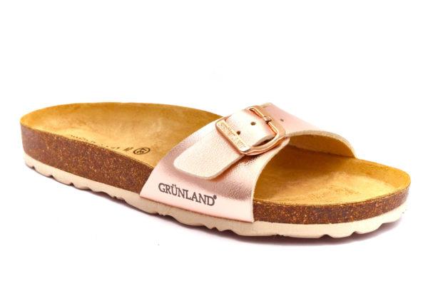 grunland sara cb2382 40 cipria ciabatte pantofole ecopelle fibbia plantare in sughero sandali estive da donna collezione primavera estate