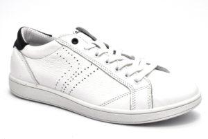igieco 5136400 bianco scarpe vera pelle lacci sneakers estive da uomo collezione primavera estate