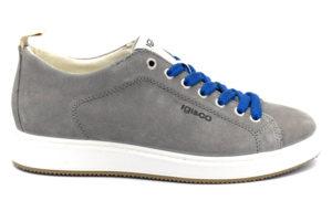 igieco 5137900 grigio scarpe vera pelle lacci sneakers estive da uomo collezione primavera estate