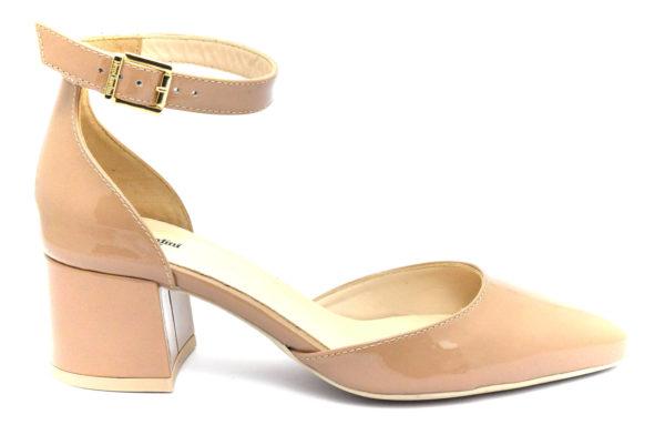 nero giardini e012021de 626 vernice nudo scarpe vera pelle fibbia tacco blocchetto mary jane estive da donna collezione primavera estate