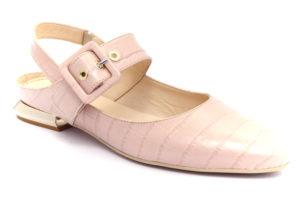 nero giardini e012033de 626 nudo scarpe vera pelle fibbia tacco blocchetto ballerine estive da donna collezione primavera estate