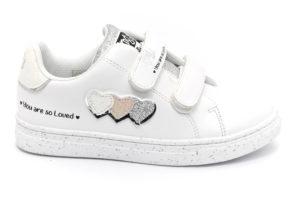 rimigi 5456800 bianco scarpe ecopelle strappi sneakers estive da bambina collezione primavera estate