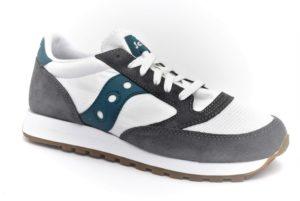 saucony s70368 116 jazz original bianco grigio petrolio scarpe mesh tessuto lacci sneakers estive da uomo collezione primavera estate