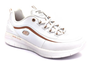 skechers 12933 wtrg heavy metal bianco scarpe ecopelle lacci memory foam air cooled sneakers estive da donna collezione primavera estate