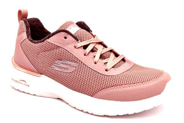 skechers 12947 mve fast brake mauve rosa scarpe mesh tessuto lacci memory foam air cooled sneakers estive da donna collezione primavera estate
