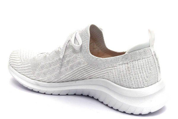 skechers 13357 wsl glimmer sky bianco scarpe mesh tessuto lacci memory foam air cooled sneakers estive da donna collezione primavera estate