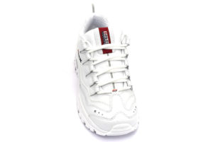 skechers 13423 wml timeless vision bianco scarpe ecopelle lacci sneakers estive da donna collezione primavera estate