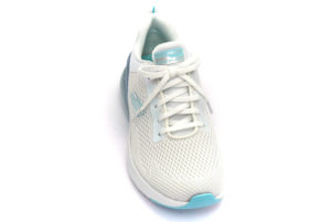 skechers 149123 wlb glamour tour bianco celeste scarpe mesh tessuto slipon memory foam air cooled sneakers estive da donna collezione primavera estate