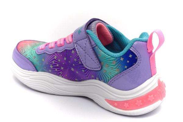 skechers 20335l lvmt painted daisy lavanda scarpe mesh tessuto strappi sneakers estive da bambina collezione primavera estate
