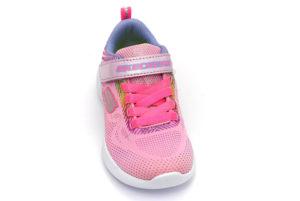 skechers 302031l lpmt shimmerr speeder rosa scarpe mesh tessuto strappi sneakers estive da bambina collezione primavera estate