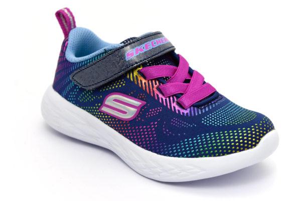 skechers 302031n nvmt shimmer speeder blu scarpe mesh tessuto strappi sneakers estive da bambina collezione primavera estate