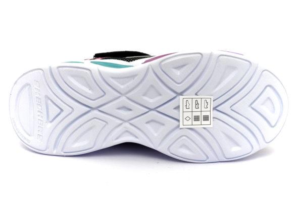 skechers 302042l bkmt sporty glow nero luci multi scarpe mesh tessuto strappi sneakers estive da bambina collezione primavera estate