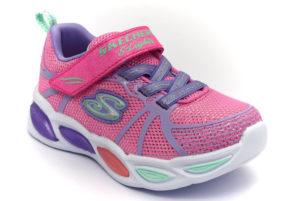 skechers 302042n pkmt sporty glow rosa scarpe mesh tessuto strappi sneakers estive da bambina collezione primavera estate