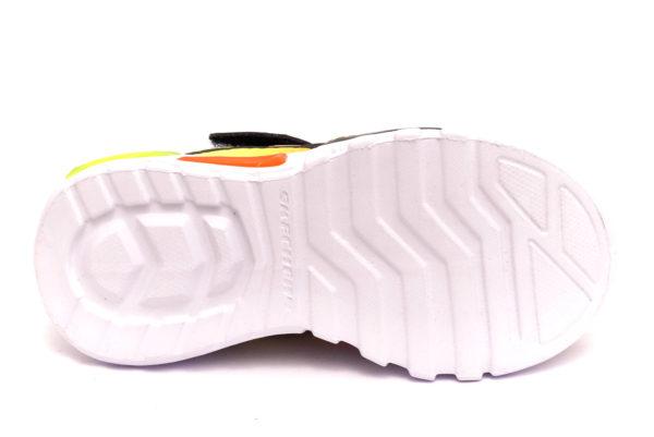 skechers 400016l nvor dezlo giallo arancione blu scarpe mesh tessuto strappi sneakers estive da bambino collezione primavera estate
