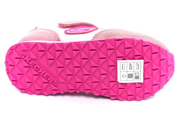 skechers 82256n pkhp retro sneaks rosa scarpe mesh tessuto strappi sneakers estive da bambina collezione primavera estate