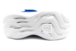 skechers 97875l bllm tharo blu lime scarpe mesh tessuto strappi sneakers estive da bambino collezione primavera estate