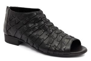 bueno 20wn5131 nero scarpe vera pelle slipon tacco basso mocassini estive da donna collezione primavera estate