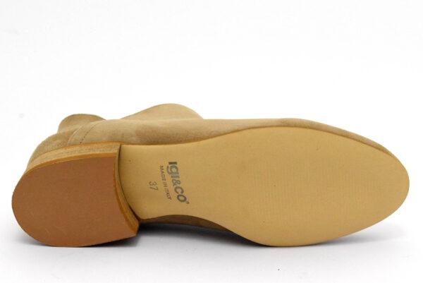 igieco 5185222 beige scarpe vera pelle da infilare tacco basso stivaletti estivi estive da donna collezione primavera estate