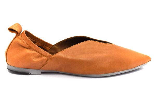 bueno 20wq2302 coconut cuoio scarpe vera pelle slipon tacco basso mocassini estive da donna collezione primavera estate