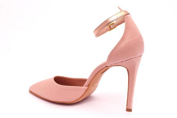 divine follie 101 cipria scarpe tessuto cinturino alla caviglia tacco a stiletto mary jane estive da donna collezione primavera estate