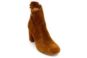divine follie 2327 cuoio scarpe vera pelle cerniera tacco medio stivaletti estivi estive da donna collezione primavera estate