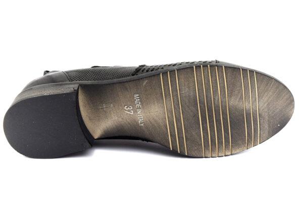 divine follie 3021 nero scarpe vera pelle cerniera tacco basso stivaletti estivi da donna collezione primavera estate
