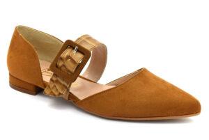 divine follie 0032 cuoio scarpe ecopelle cinturino alla caviglia tacco basso sandali estive da donna collezione primavera estat