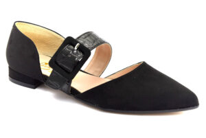 divine follie 0032 nero scarpe ecopelle cinturino alla caviglia tacco basso sandali estive da donna collezione primavera estate