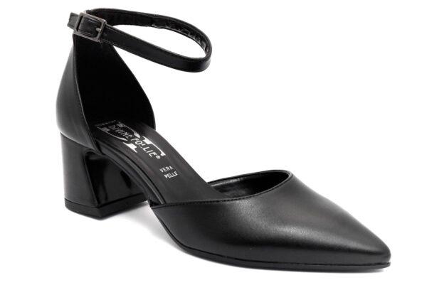 divine follie 506 nero scarpe ecopelle cinturino alla caviglia tacco medio mary jane estive da donna collezione primavera estate