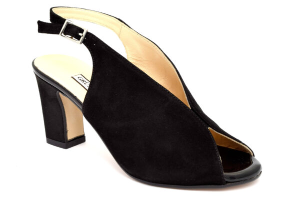 grunland euri sa2554 h5 nero scarpe vera pelle fibbia tacco alto sandali estive da donna collezione primavera estate