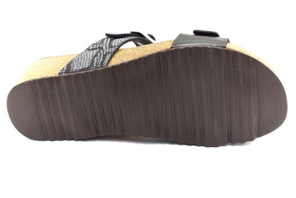 grunland memi cb2480 70 nero ciabatte pantofole ecopelle da infilare zeppa ciabatte pantofole estive da donna collezione primavera estate